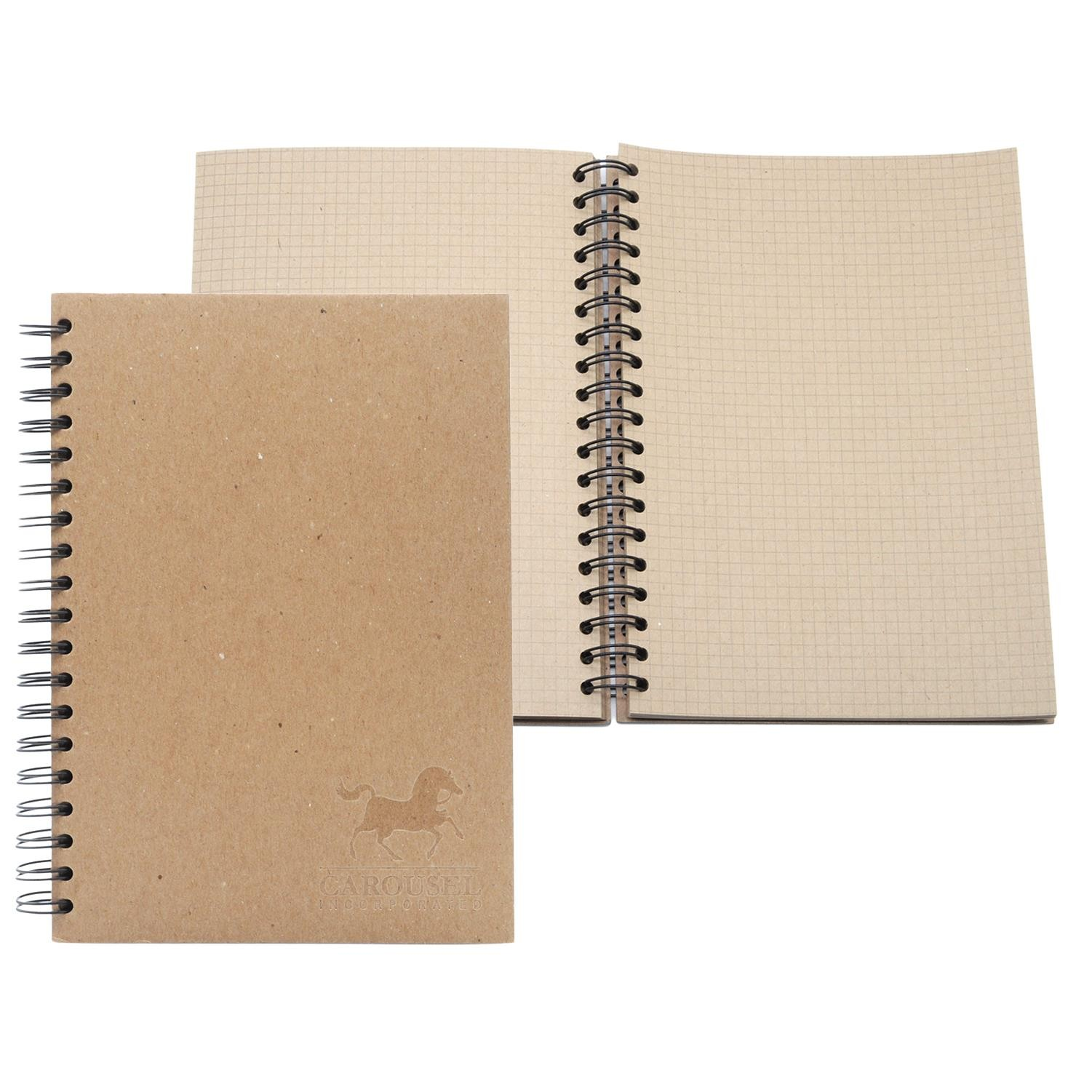 "7"" x 9"" ALL KRAFT Recycled Spiral Journal"