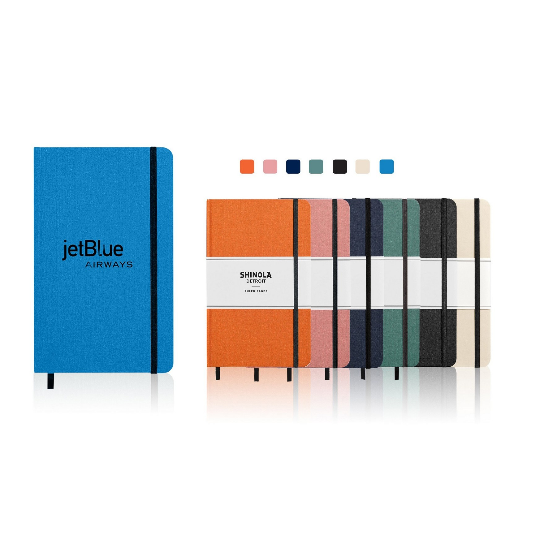 Shinola Linen Hardcover Journal - Large