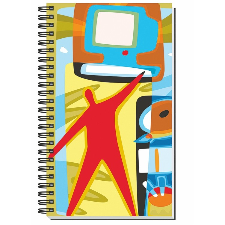 "5 1/4""X8 1/4"" Gloss Cover Journals w/ 50 Sheets"