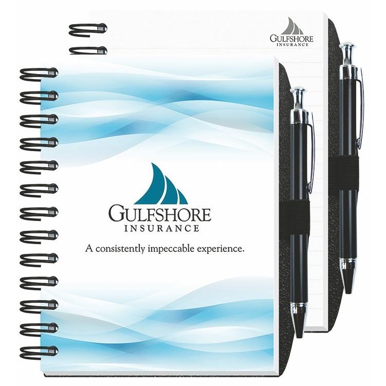 """5""""x7"""" Full Color Impression Journal w/ Pen Safe"""