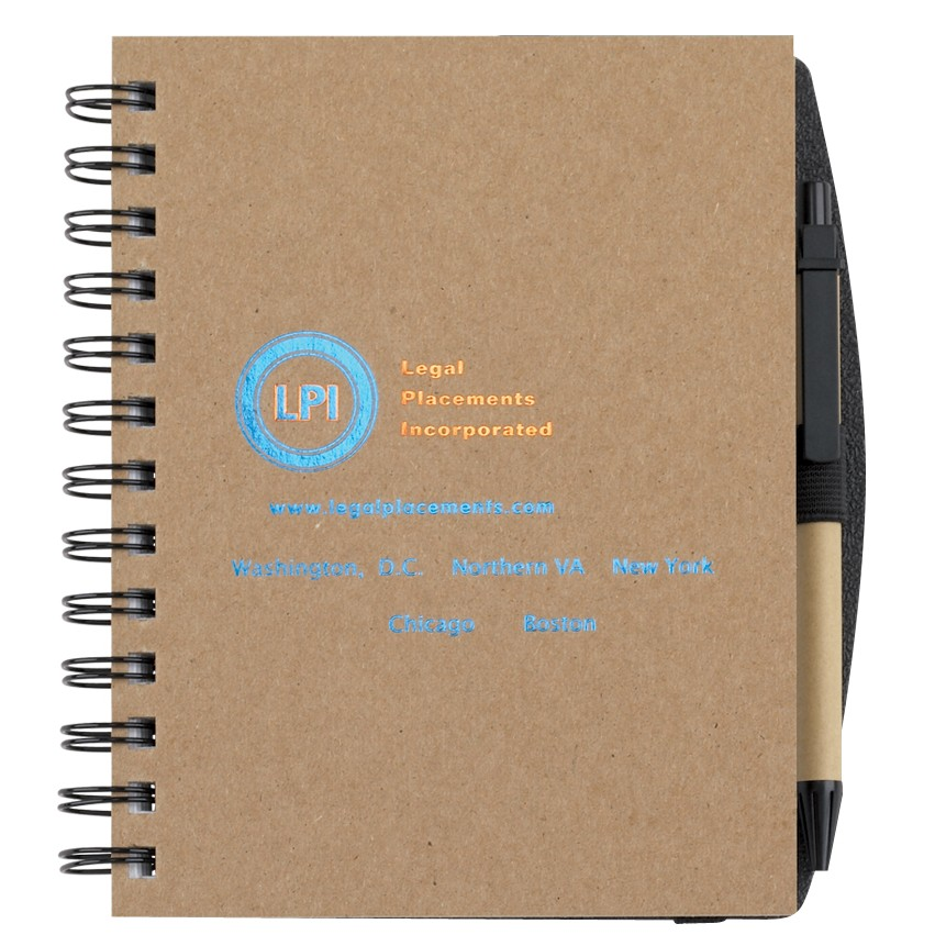 """5""""x7"""" Recycled Journals w/ Pen Safe Back Cover"""