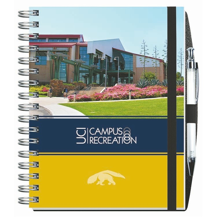 """6 1/2""""x8 1/2"""" Gloss Cover Journals w/ 100 Sheets & Pen"""
