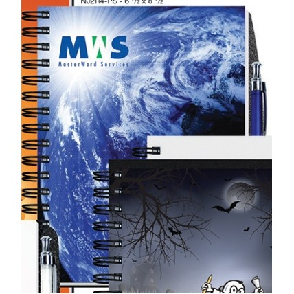 """6 1/2""""x8 1/2"""" Gloss Cover Journals w/ 50 Sheets & Pen"""