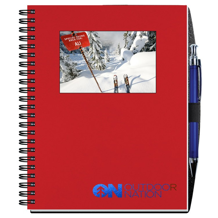 """6 1/2""""x8 1/2"""" Personalized Image Shadowbox Journals w/ 100 Sheets & Pens"""