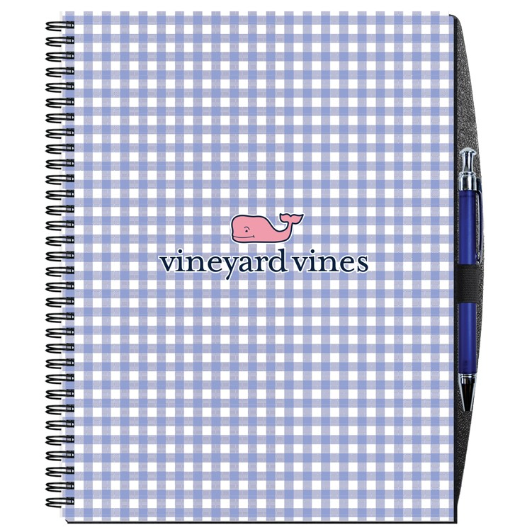 """8 1/2""""x11"""" Gloss Cover Journals w/ 50 Sheets & Pen"""