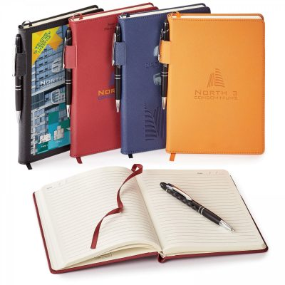 Genuine Leather Non-Refillable Journal Combo