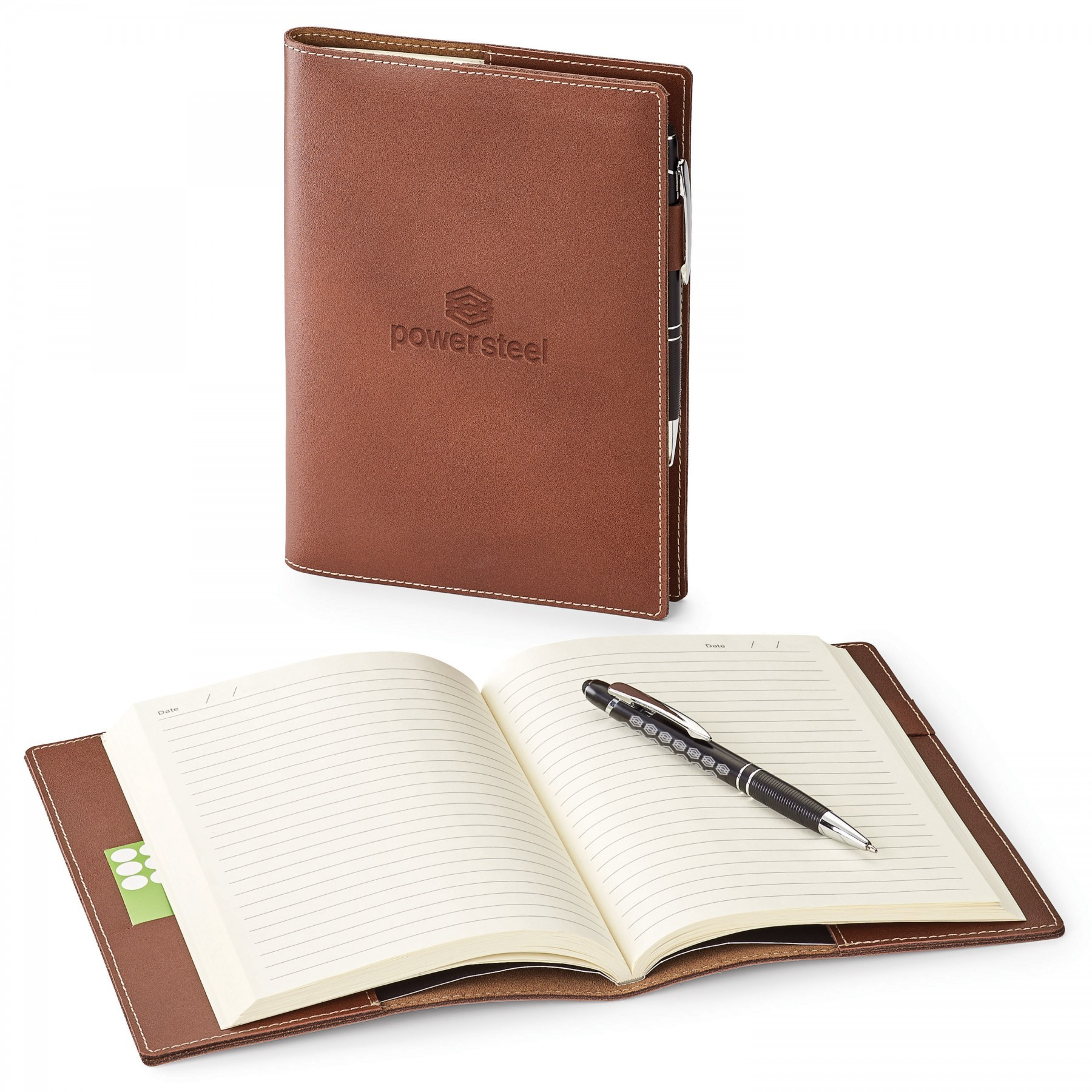 Genuine Leather Refillable Journal Combo