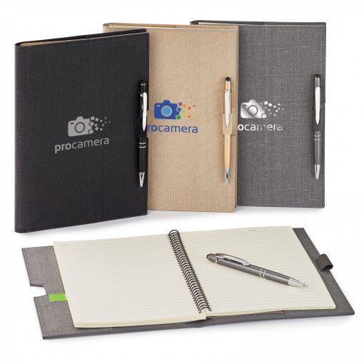 Linen Refillable Hard Cover Journal Combo