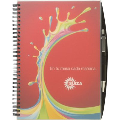 "ClearView™ Journal - Medium NoteBook w/PenPort & Pen (7""x10"")"