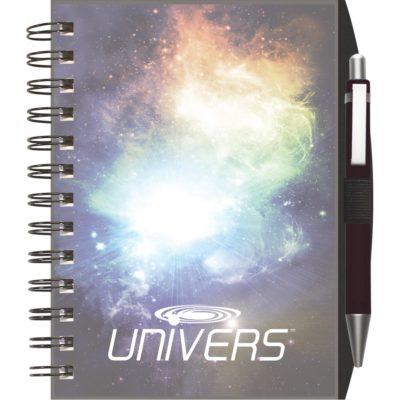 "ClearView™ Journal - NotePad w/PenPort & Pen (5""x7"")"
