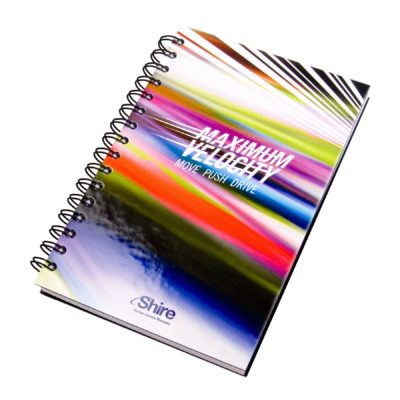 """Full Color Laminated Spiral Journal - 5.25""""x8.25"""""""