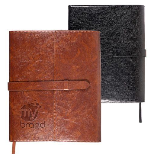 Sorrento™ Refillable Journal w/Business Card Organizer