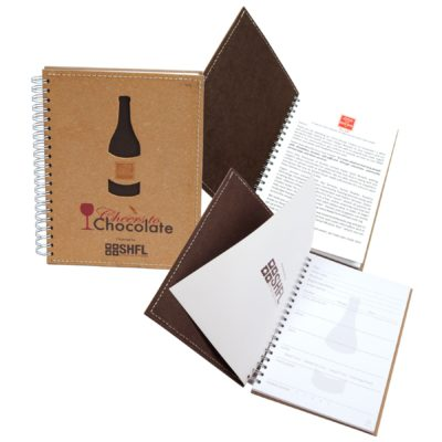 "5"" x 7"" Leather Spiral Wine Tasting Journal Notebook"