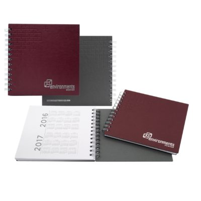 "7"" x 7"" Boardroom Spiral Journal Notebook"