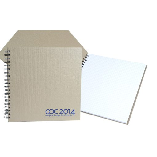 """7"""" x 7"""" Recycled Spiral Journal Notebook"""