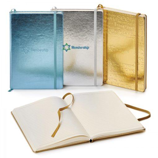Metallic Neoskin Hard Cover Journal