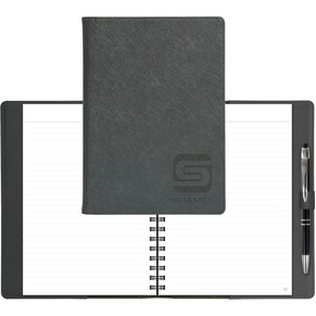 "Modena NoteBook w/ Lined Filler (7""x10"") Refillable"