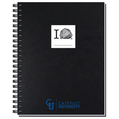 """8 1/2""""x11"""" Shadowbox Smooth Paperboard Journals w/ 50 Sheets"""