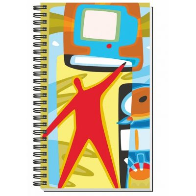 "Gloss Cover Journals w/50 Sheets (5 1/4""X8 1/4"")"