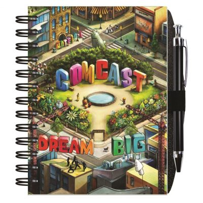 """Gloss Cover Journals w/50 Sheets & Pen (7""""x10"""")"""