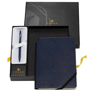 Classic Century® Chrome Ballpoint Pen & Classic Black Journal Gift Set