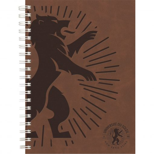 """Luxury Cover Series 4 Medium NoteBook w/Black Paperboard Back Cover (7""""x10"""")"""