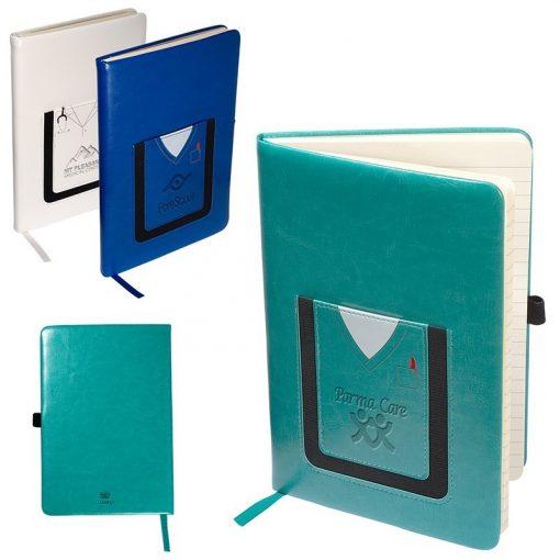 Leeman™ Medical-Themed Journal Book w/Cell Phone Pocket