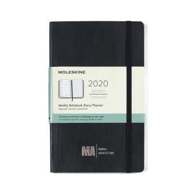 Moleskine® Soft Cover Large 12-Month Weekly 2020 Planner Black