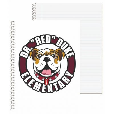 "Wide Ruled Econo Composition Notebook w/4 Color Process (8 1/2""x10 1/2"")"