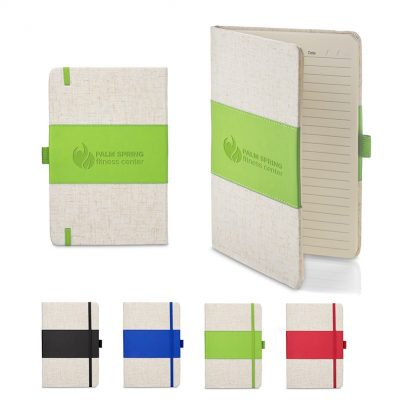 5x7 Soft Cover PU & Heathered Fabric Journal