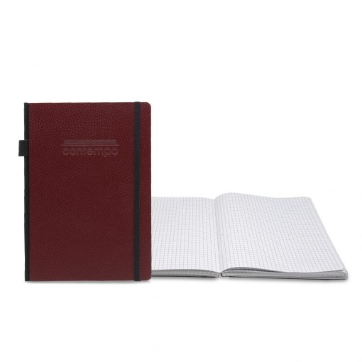 Contempo Bookbound Leather Cover Journal with Matching Color Flat Elastic Closure