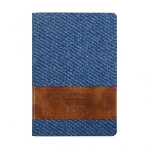 Denim w/Leatherette Band Journal