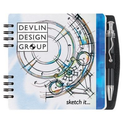 "Gloss Square Journals w/Pen & Safe Back Cover (5"")"