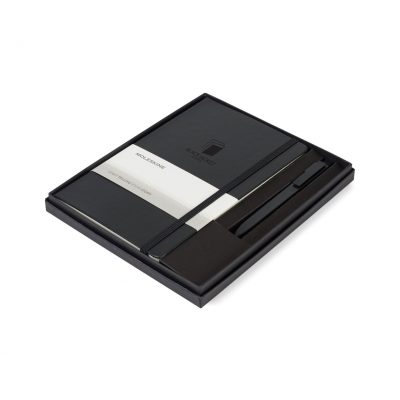 Moleskine® Large Notebook and GO Pen Gift Set - Black
