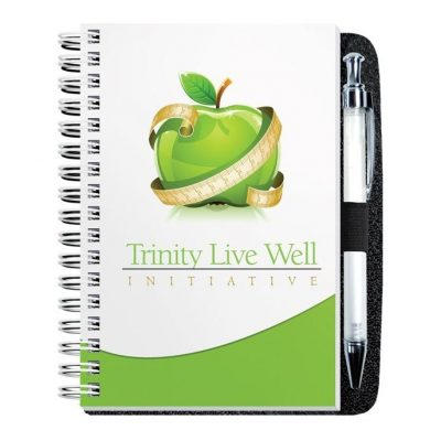 "Gloss Cover Journals w/100 Sheets & Pen (4"" x 6"")"