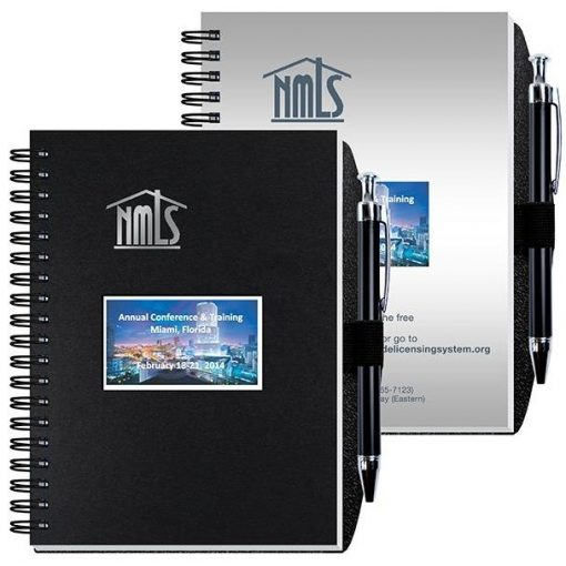 """Shadowbox Smooth Paperboard Journals w/50 Sheets & Pen (5"""" x 7"""")"""