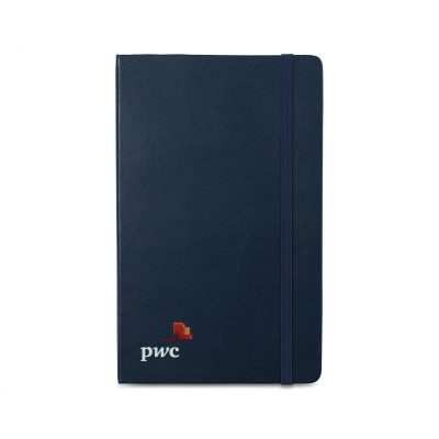 Moleskine® Hard Cover Ruled Large Expanded Notebook Blue