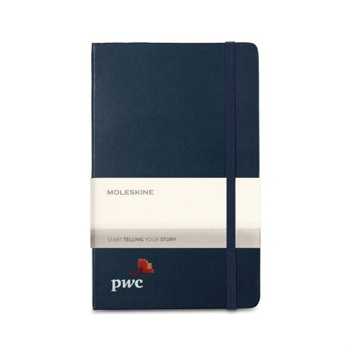 Moleskine® Hard Cover Ruled Large Expanded Notebook - Sapphire Blue