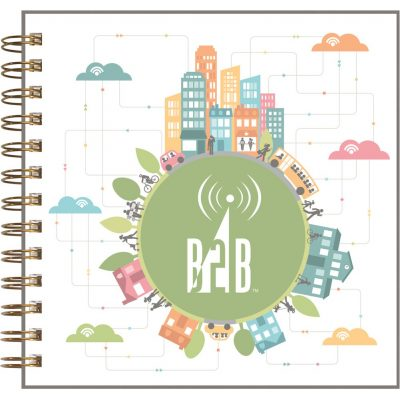 "ClearView™ Square NoteBook Journal (7""x7"")"
