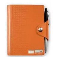 "Deluxe LeatherWrap™ Mini-Snap Wrap Refillable Journal w/Pen (3.75""x5"")"