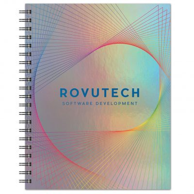 "Holographic Rainbow™ Journal Large NoteBook (8.5""x11"")"