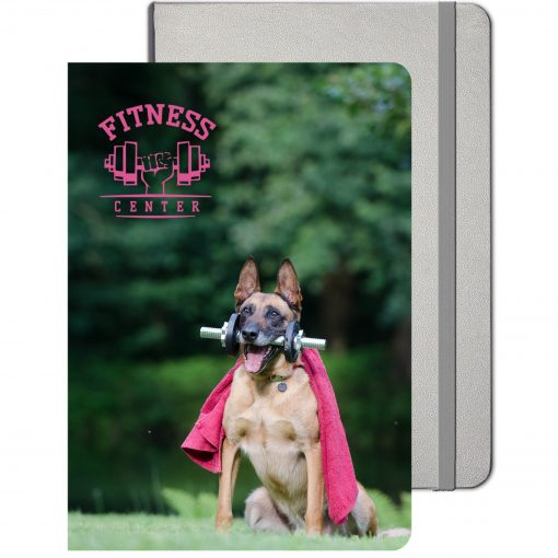 """Large Ambassador™ Journal w/Full Color Tip-In Page (8.5""""x11.5"""")"""