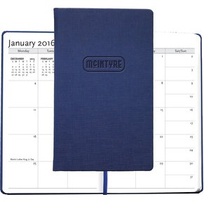 "Medium Casebound Hybrids™ Bohemian™ Textured Journal w/Planner (5""x8.5"")"