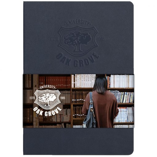 "Soft Firenze™ Journal w/Full Color Graphic Wrap (5""x7"")"
