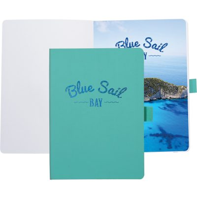 "Soft Vienna™ Journal w/Full Color Tip-In Page (5""x7"")"