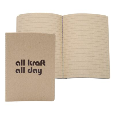 "3.5""X5"" ALL KRAFT Commuter Journal 56 Pages"