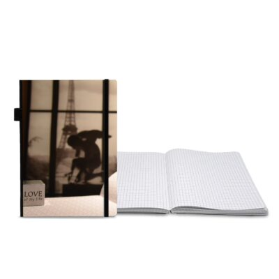 Full Color Contempo Bookbound Journal with Matching Color Flat Elastic Closure