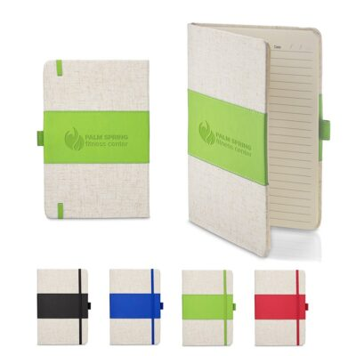 "Soft Cover PU & Heathered Fabric Journal (5"" x 7"")"