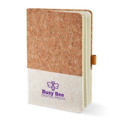 "Hard Cover Cork & Heathered Fabric Journal (5"" x 7"")"