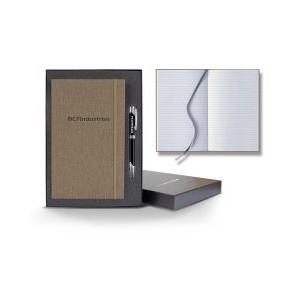 Linen Banded Medium Journal Gift Set